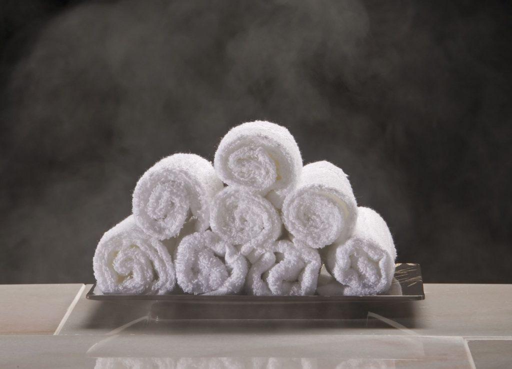 Gestoomde handdoeken